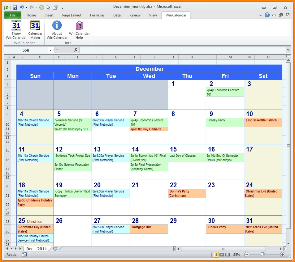 4 Excel Monthly Calendar Memo Templates3abry