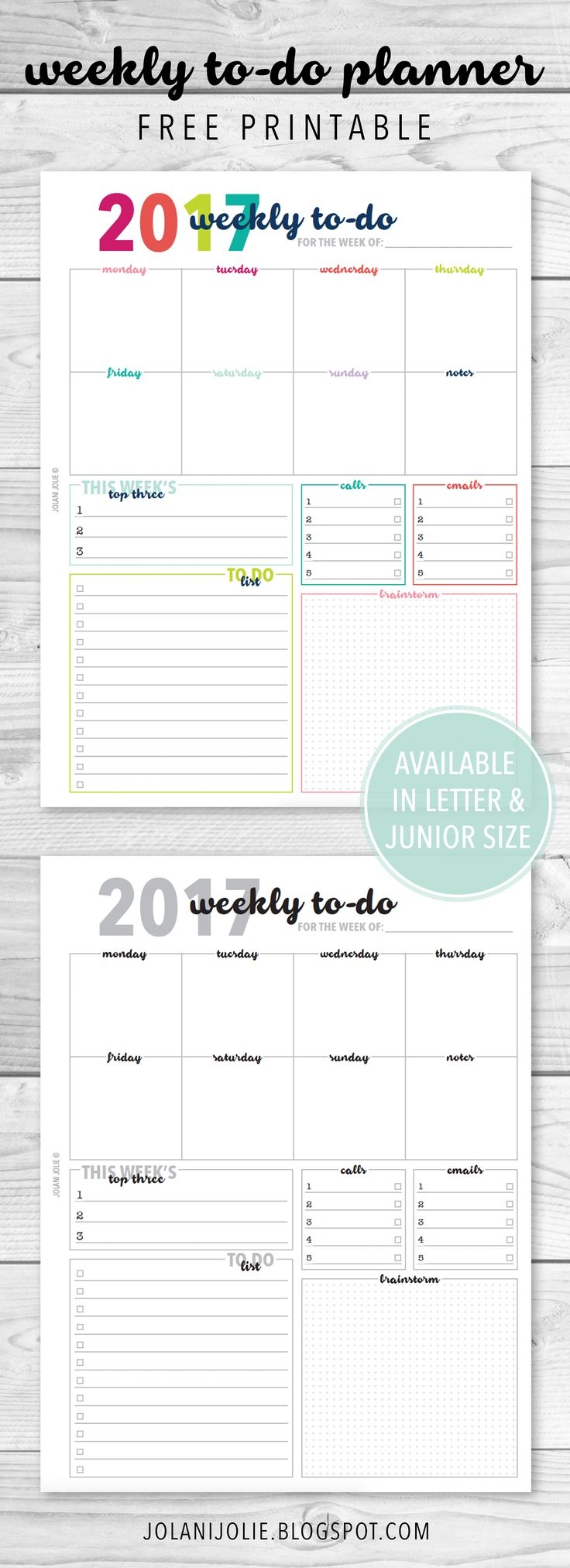 539 Best Planner Printables Organization Images On Pinterest  Xjb
