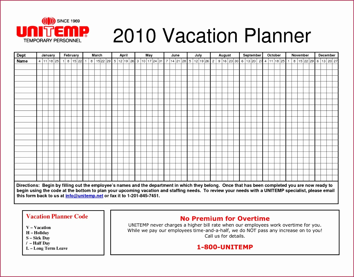 6 Annual Leave Planner Excel Template Exceltemplates3abry