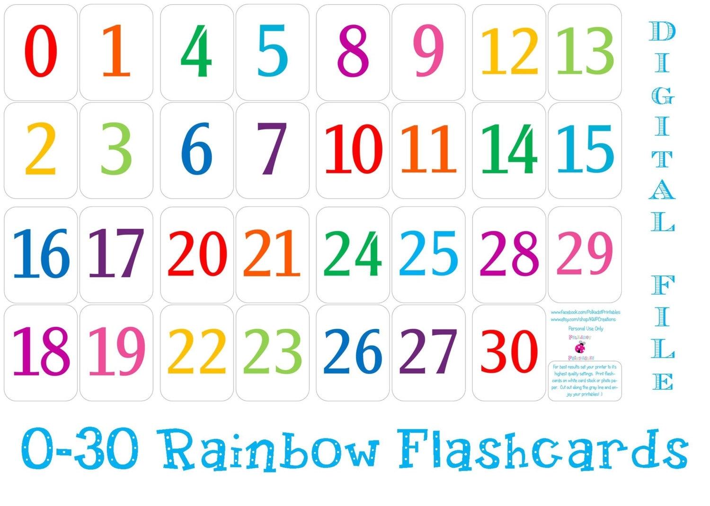 Printable Number Cards 1-31 Calendar