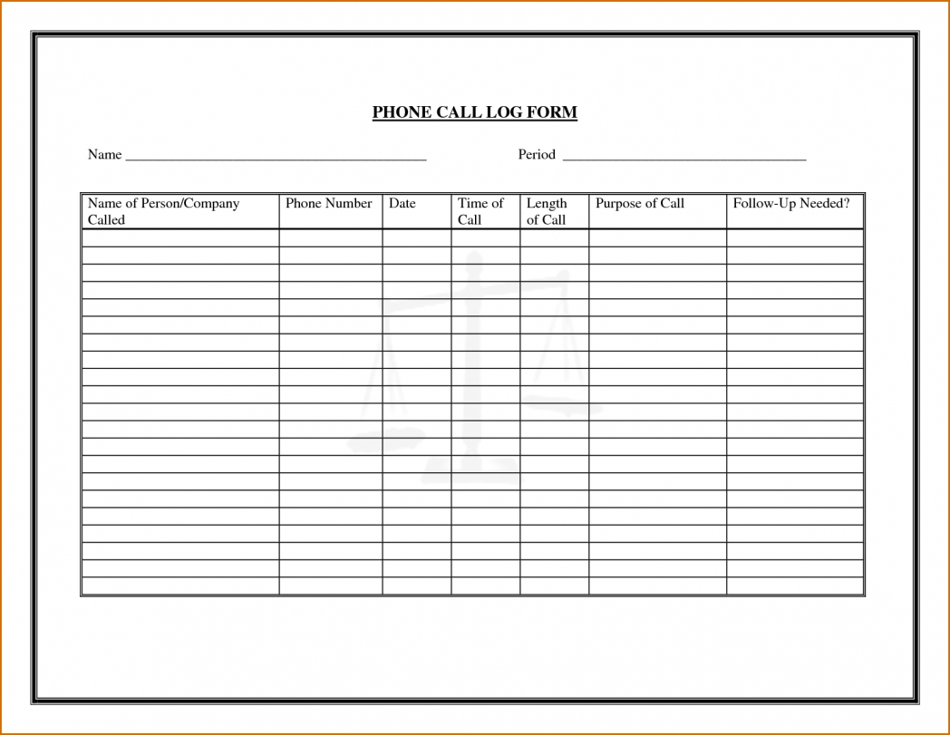 6 Phone Log Template Authorizationletters Org On Call Rotation  Xjb