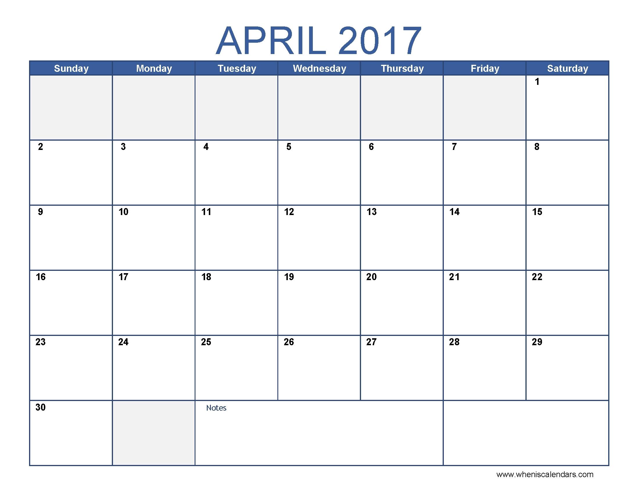 April Calendar Templates Fieldstationco  Xjb