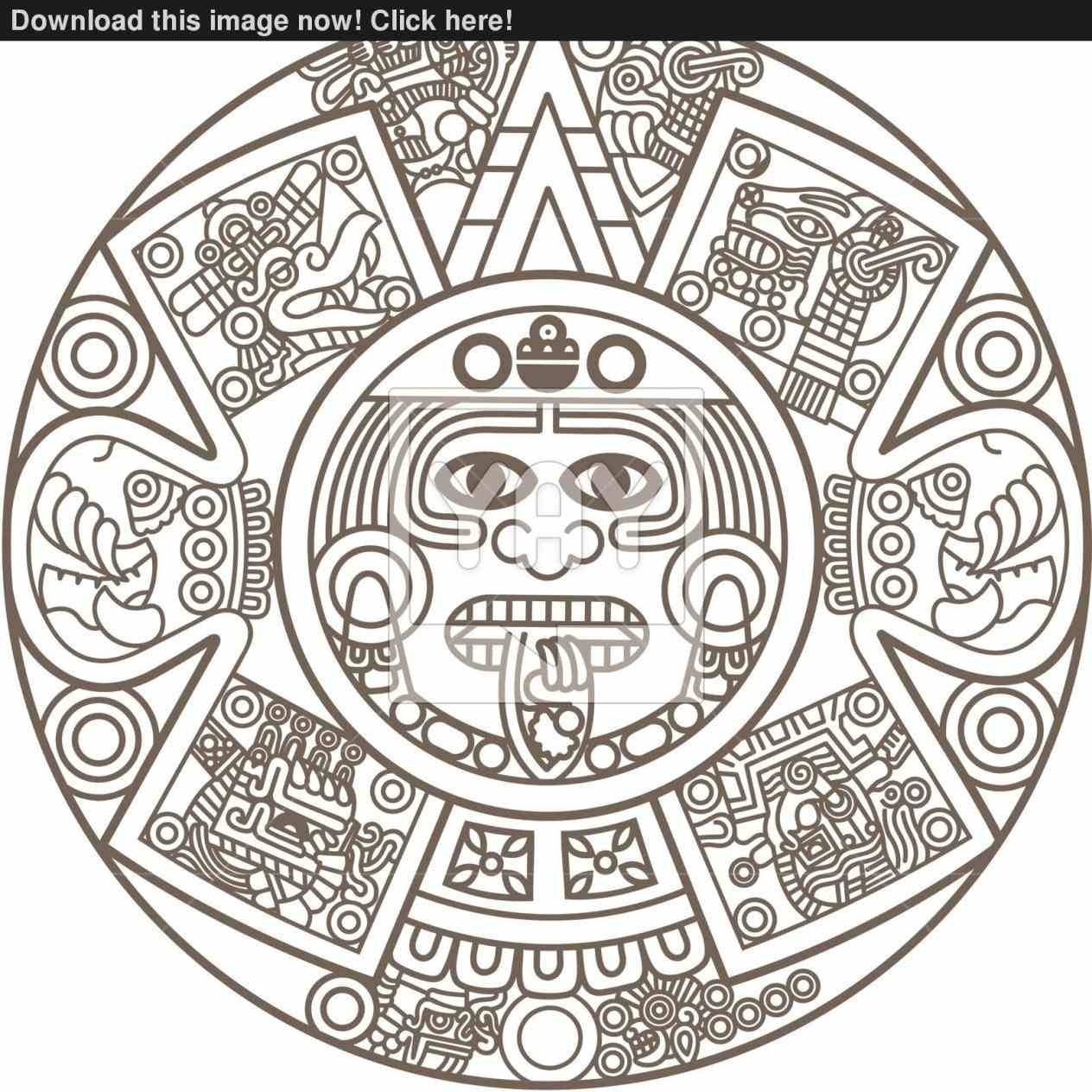 Aztec Calendar Drawing Easy Draw83abry