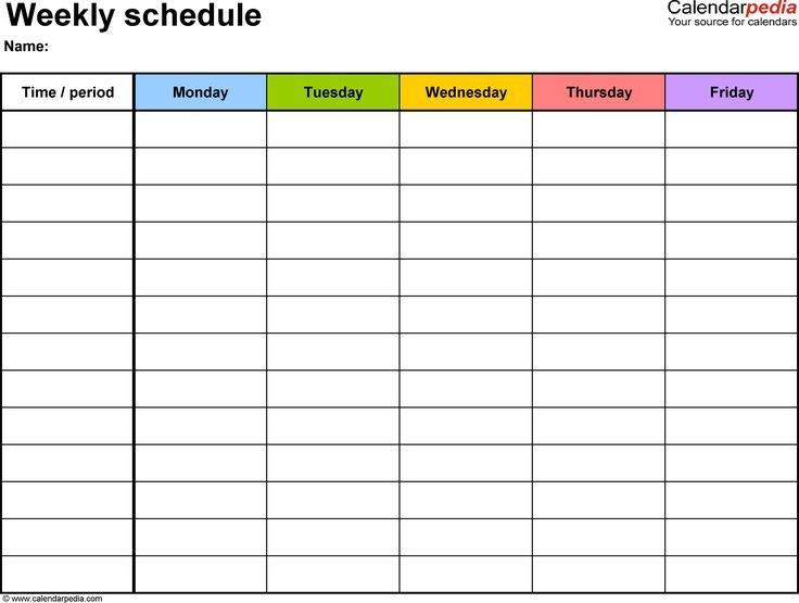 Best 25 Daily Calendar Template Ideas On Pinterest Day Planner