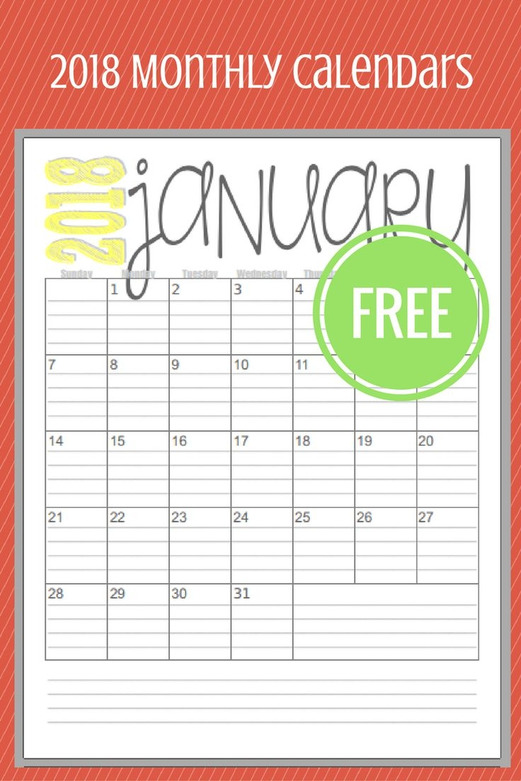 Best 25 Monthly Calendars Ideas On Pinterest Free Printable3abry