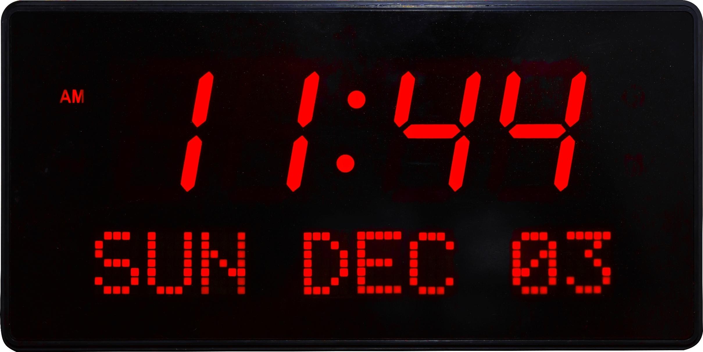 Big Time Clocks Super Large Led Digital Calendar Clock Digital  Xjb