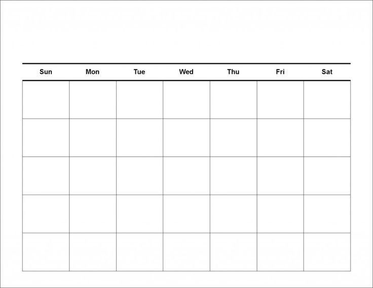 Blank 4 Week Calendar Yun56co