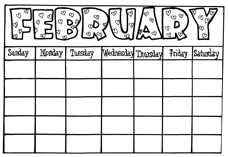 Blank Calendar For Kids Free Calendar 2017 2018  Xjb