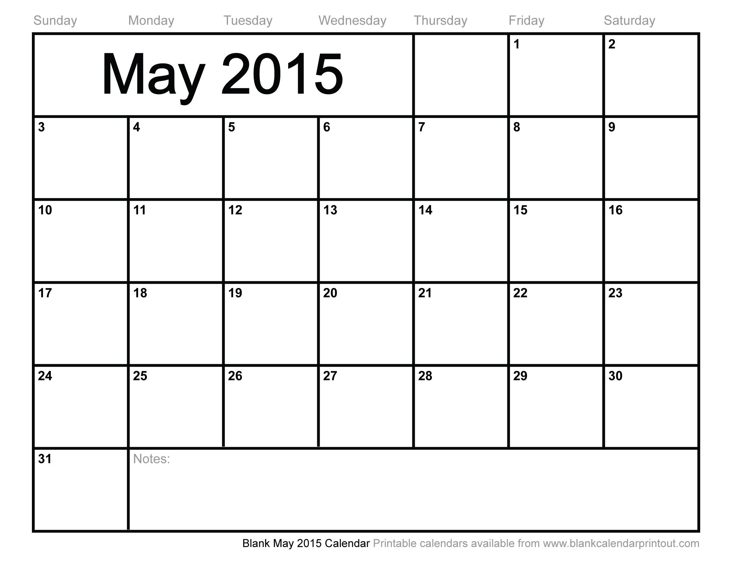 Blank Calendar Of The Month Of May 2018 Calendar Template 89uj