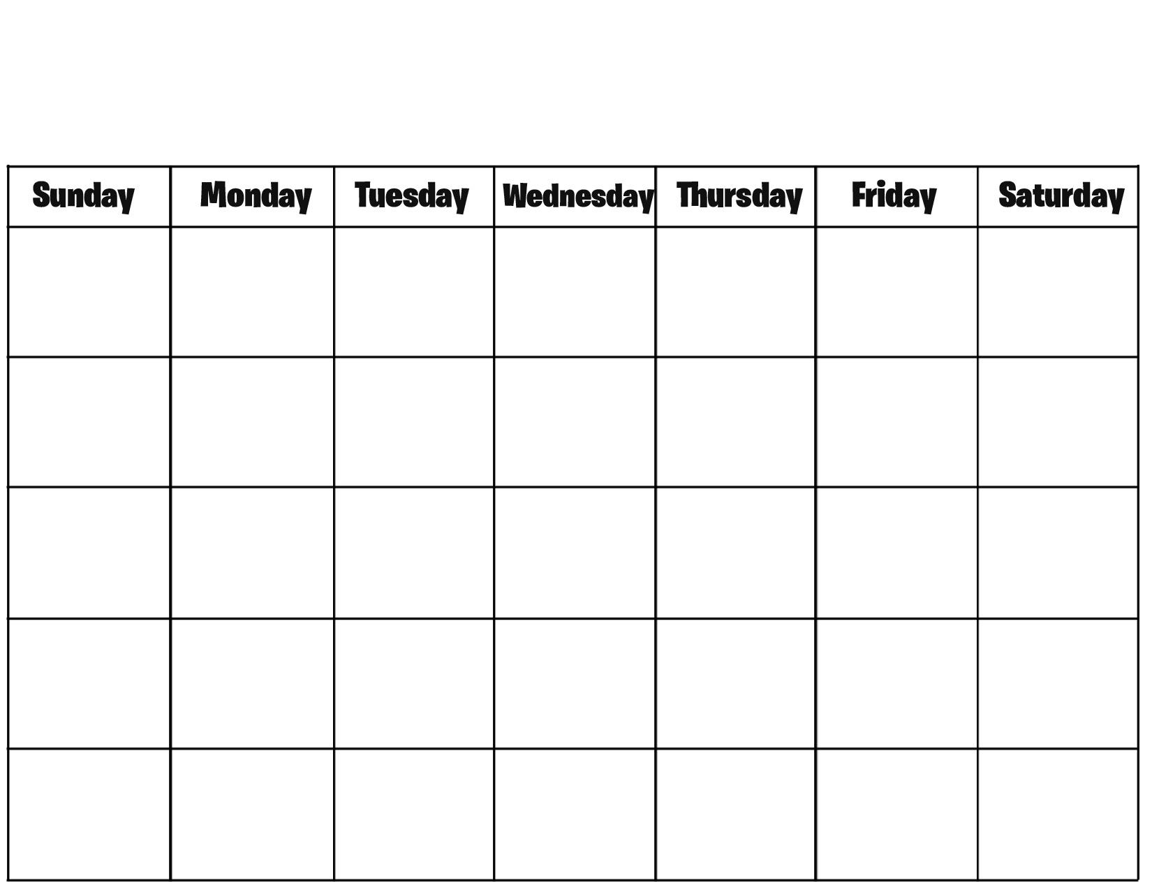 Blank Calendar Pages Asafonggecco3abry