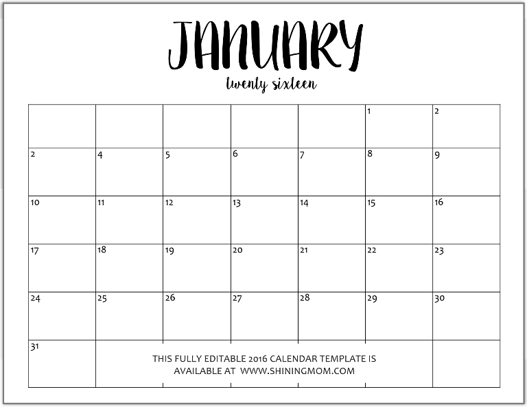 Blank Fillable Calendar Fieldstationco