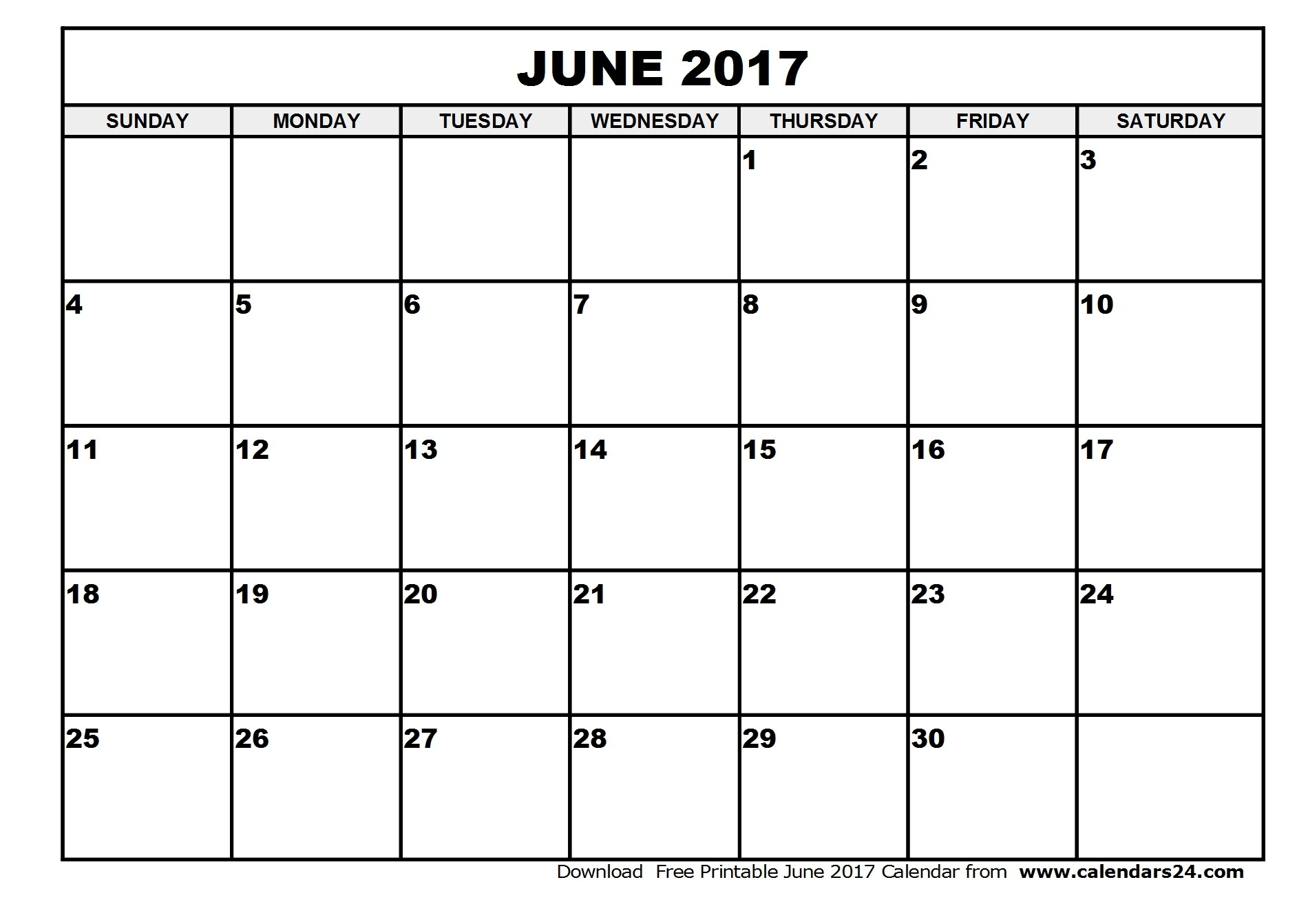 Blank June July And August Calendar 2017 2018 Calendar Template  Xjb