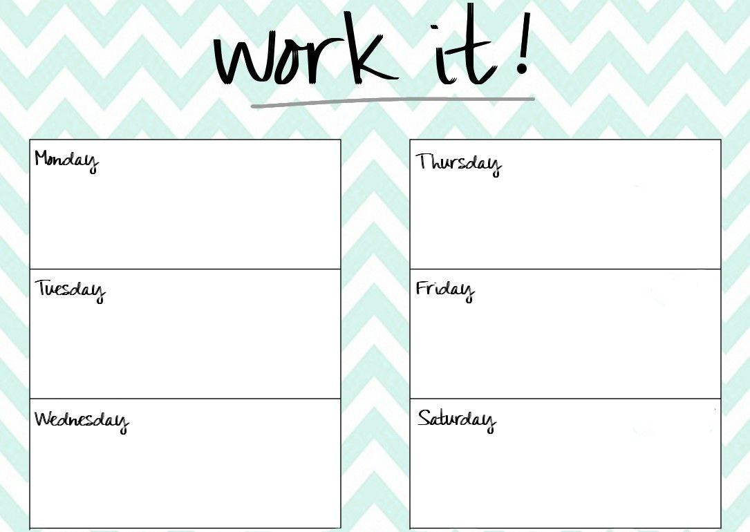 Blank Printable Workout Calendar Template 5 Planning And  Xjb
