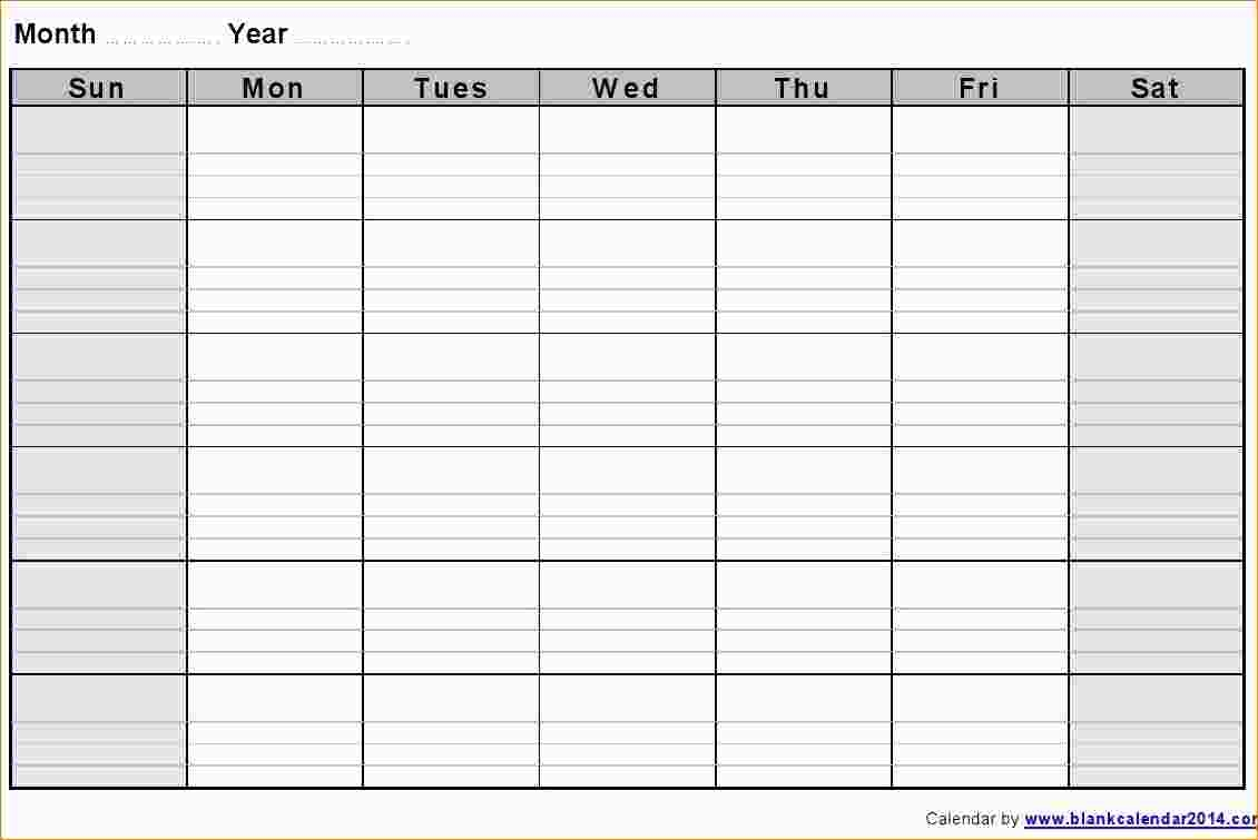 Blank Weekly Calendar Template Fieldstationco3abry