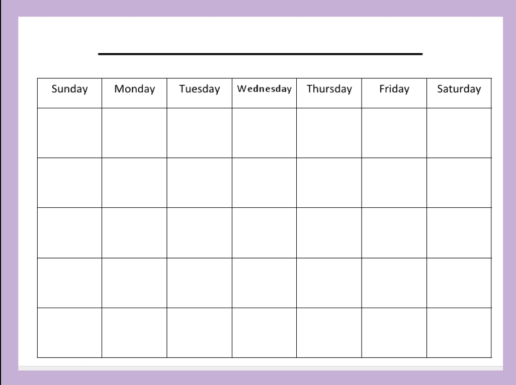 Cafechoo Image Blank Calendar Templates For Teachers Root3abry