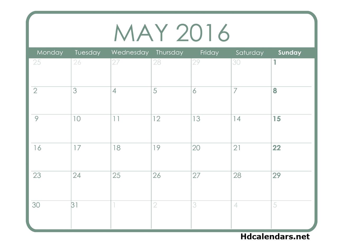 Calendar Templates Starting On Monday Calendar Template 2018  Xjb