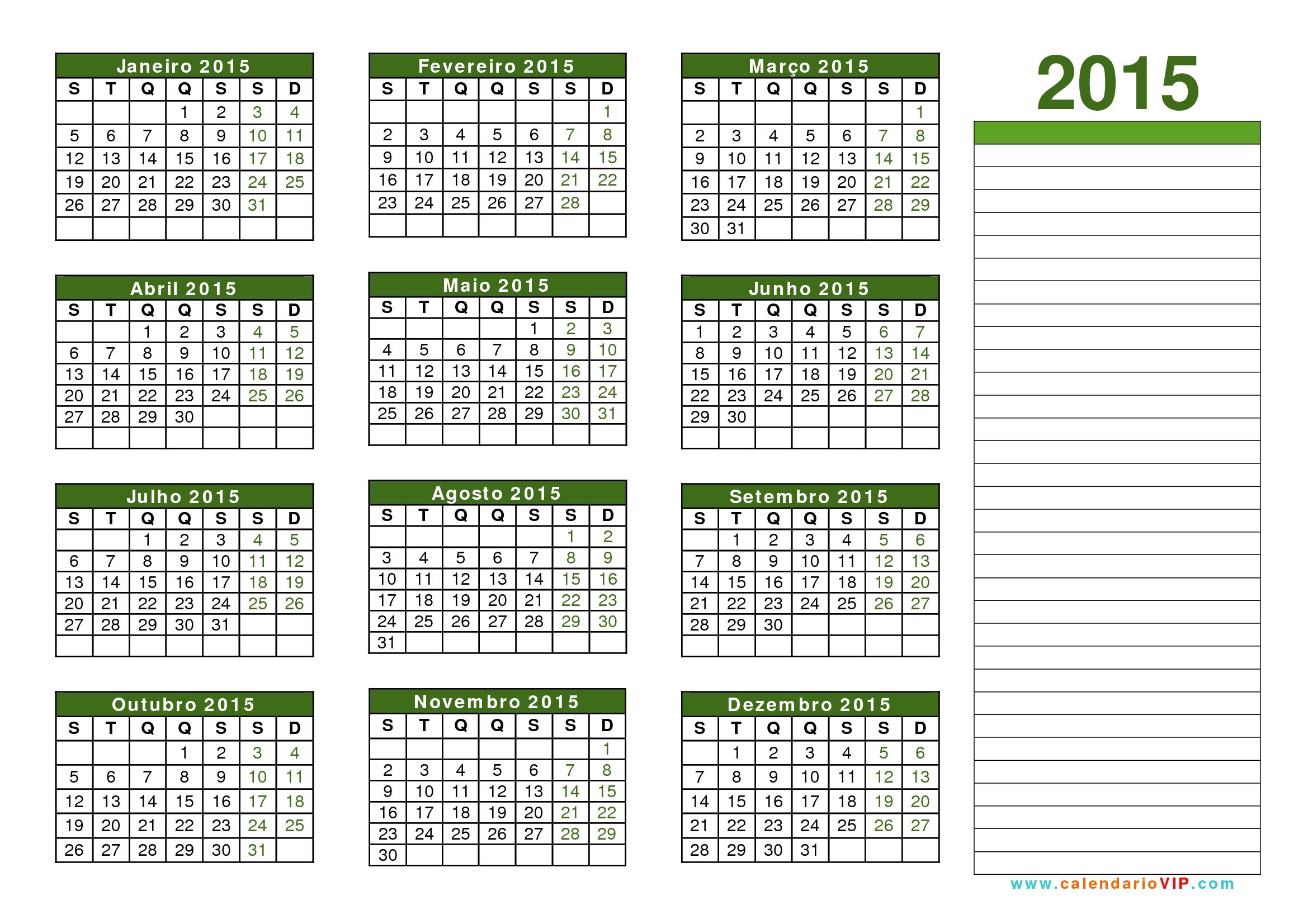 Calendario Excel 2015 Fieldstationco  Xjb