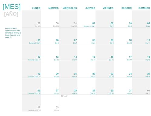 Calendario Juliano Office Templates