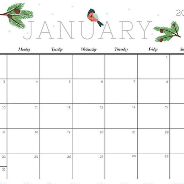Cute And Crafty 2018 Calendar Printable Calendars Crafty And