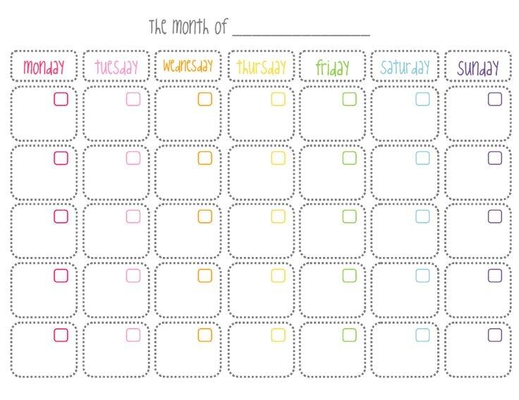 Cute Printable Monthly Calendar Things To Wear Pinterest