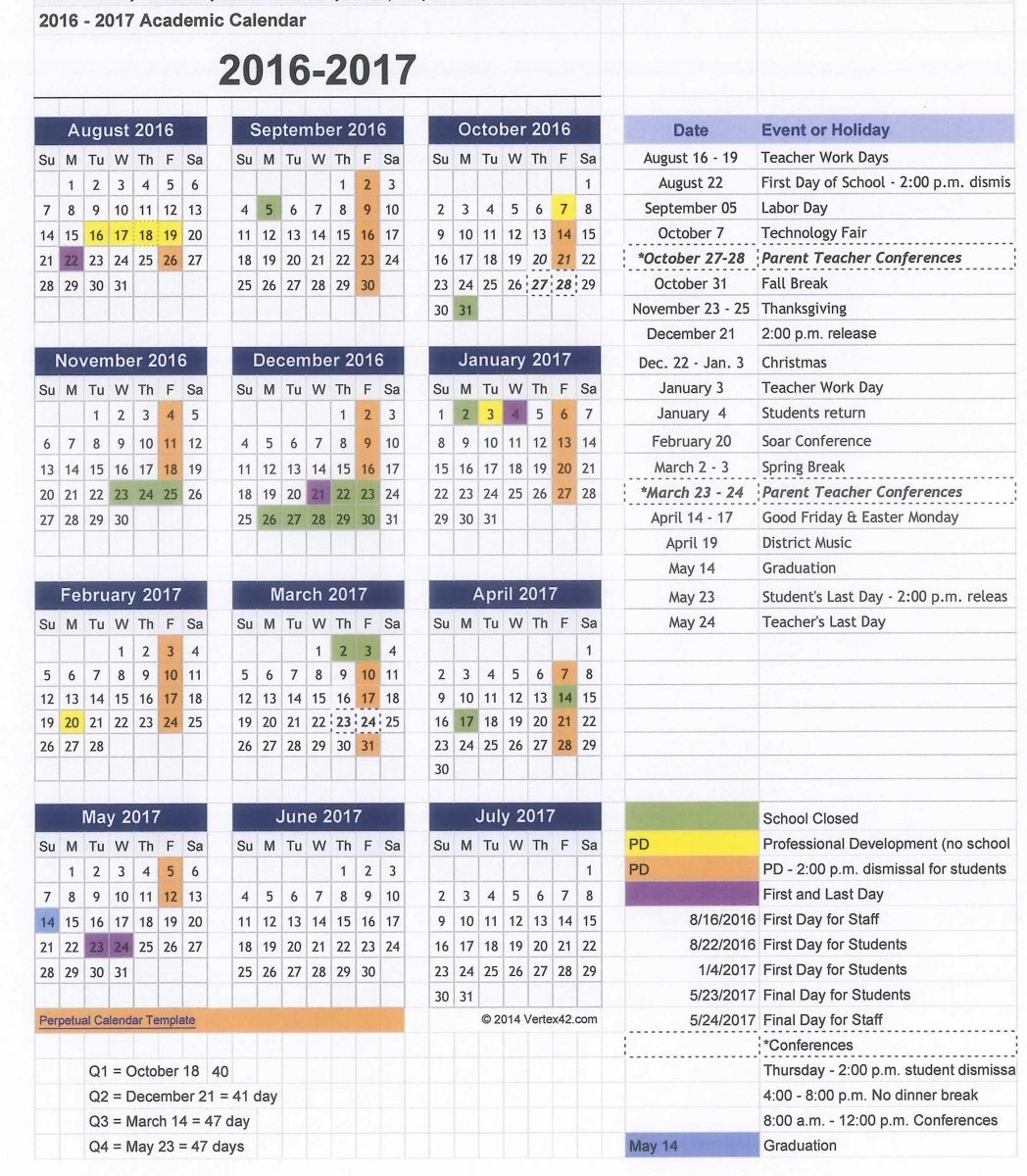Emerson Academic Calendar Free Calendar Template 89uj