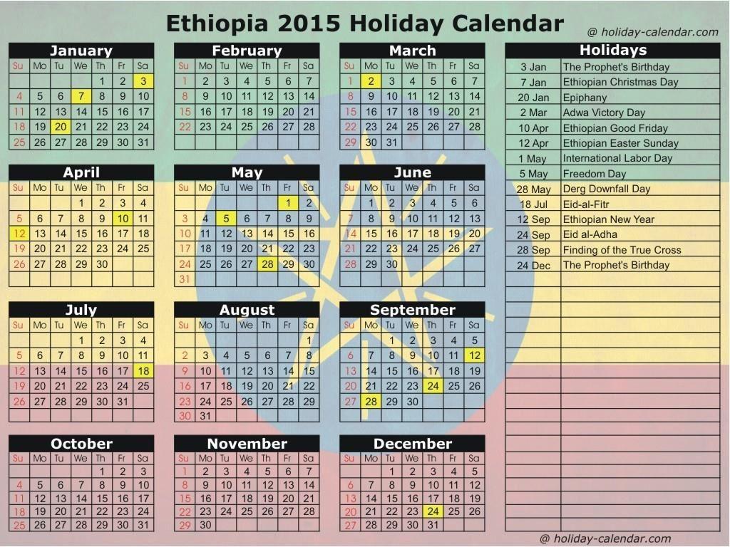 Ethiopian Calendar Conversion Free Calendar Template 89uj