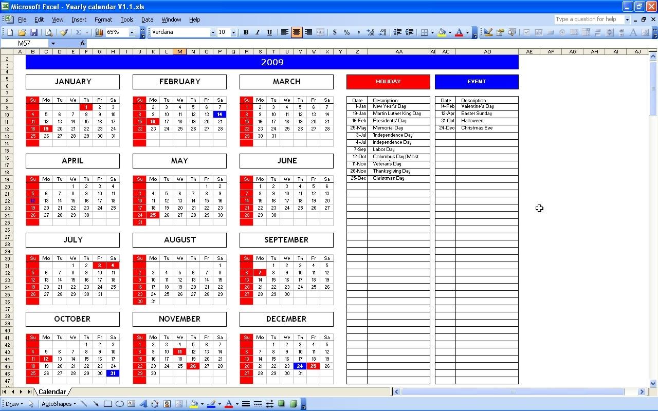 Event Calendar Excel Northfourthwallco3abry