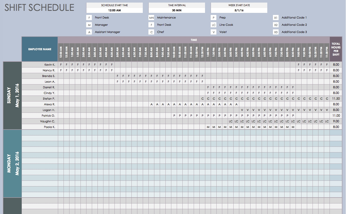 Free Daily Schedule Templates For Excel Smartsheet  Xjb