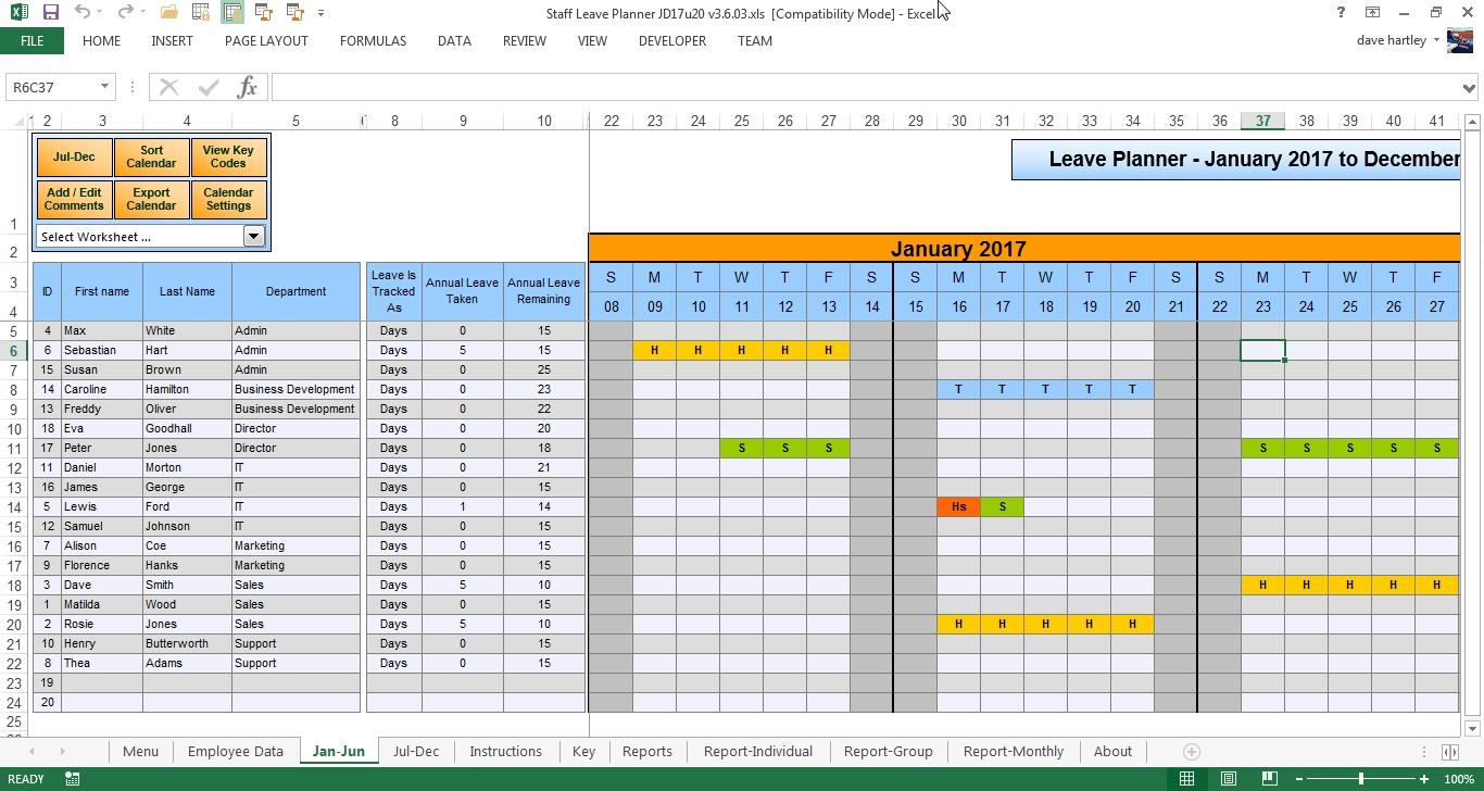 Free Employee Vacation Calendar Fieldstationco  Xjb