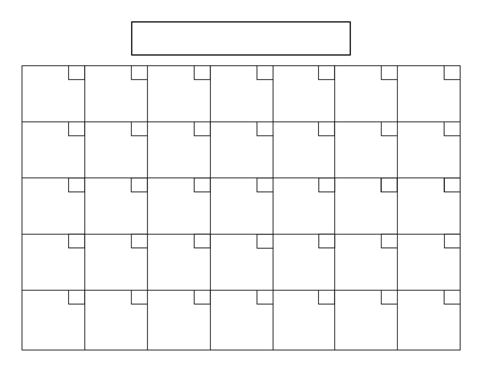 Free Printable Blank 85 X 11 Calendar 2018 Calendar Template