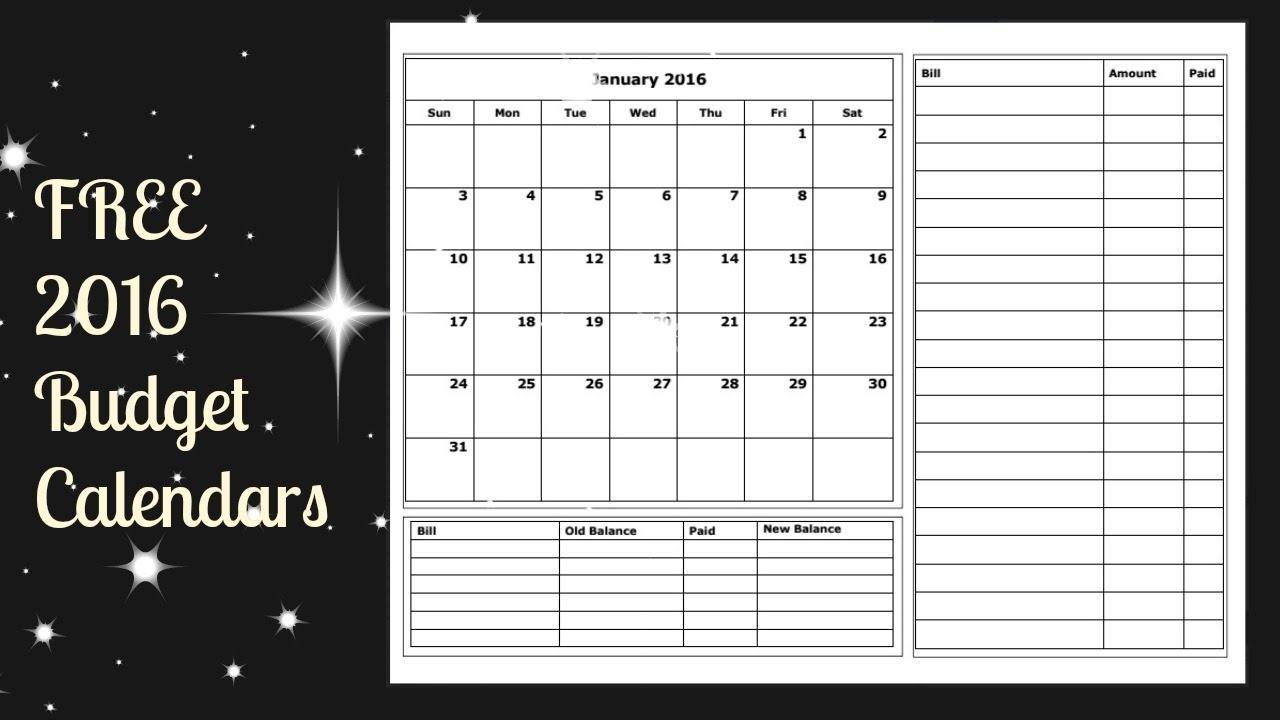 Free Printable Budget Calendar Commonpenceco3abry