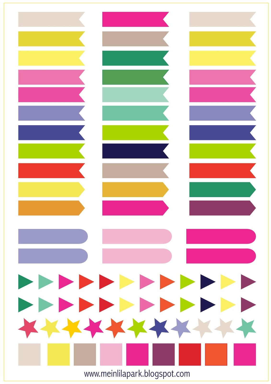 Free Printable Calendar Planner Flags And Markers Ausdruckbare3abry