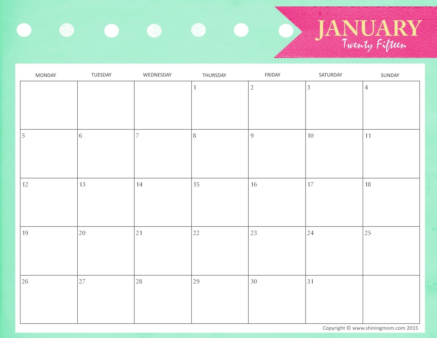 Free Printable Monthly Calendars 2015 2017 Printable Calendar 89uj