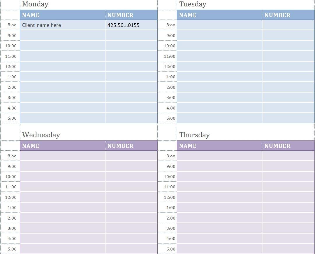 Free Printable Weekly Appointment Calendar Fieldstationco  Xjb