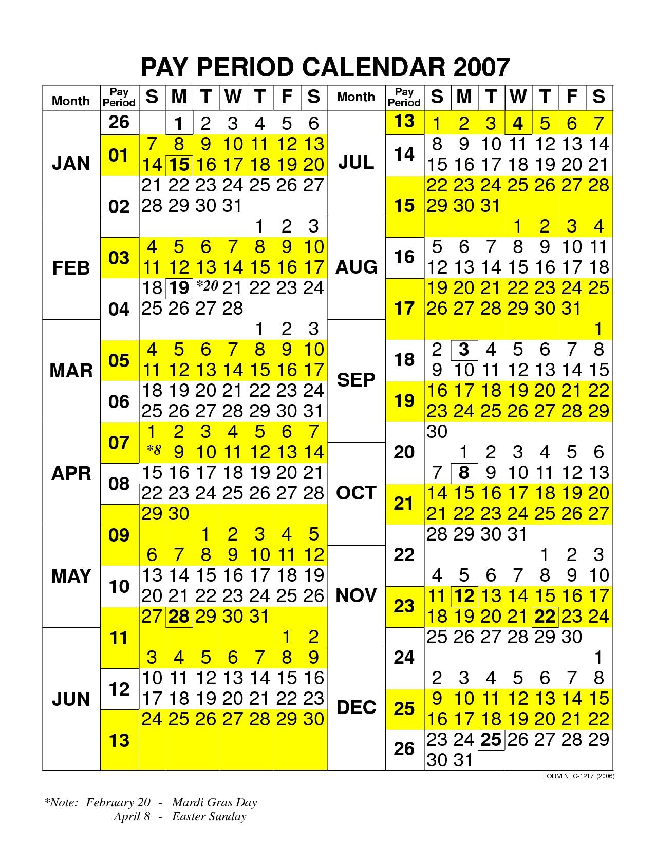 Fy16 Federal Pay Period Calendar Calendar Template 20183abry