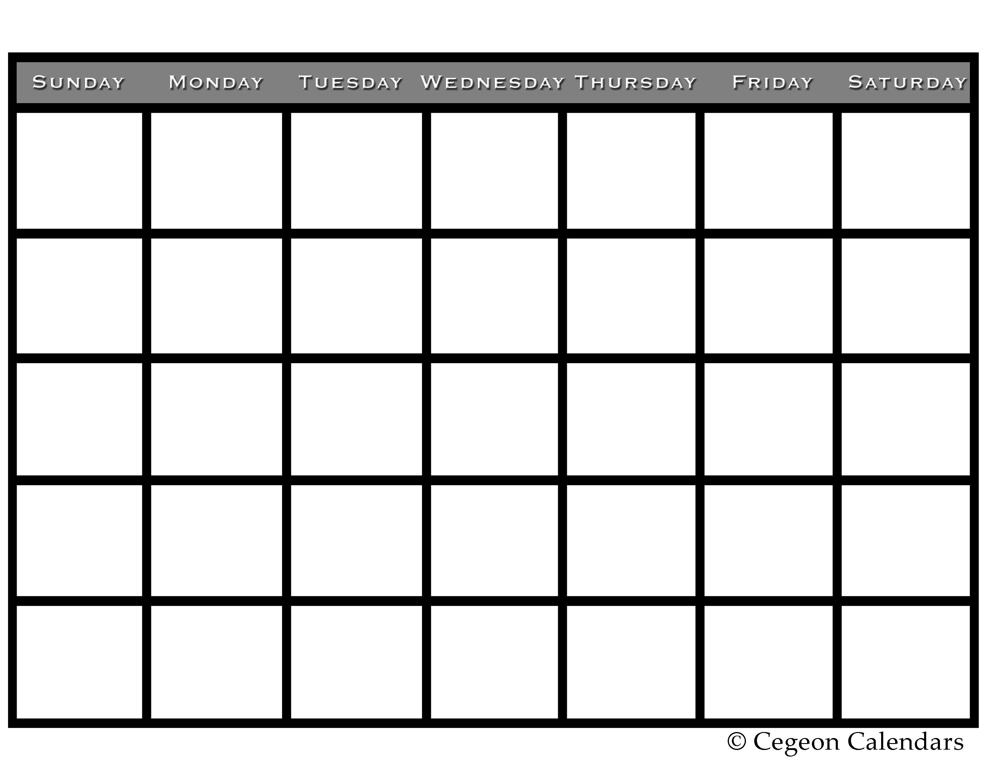 Get Your Free Printable Blank Calendar Printables Pinterest