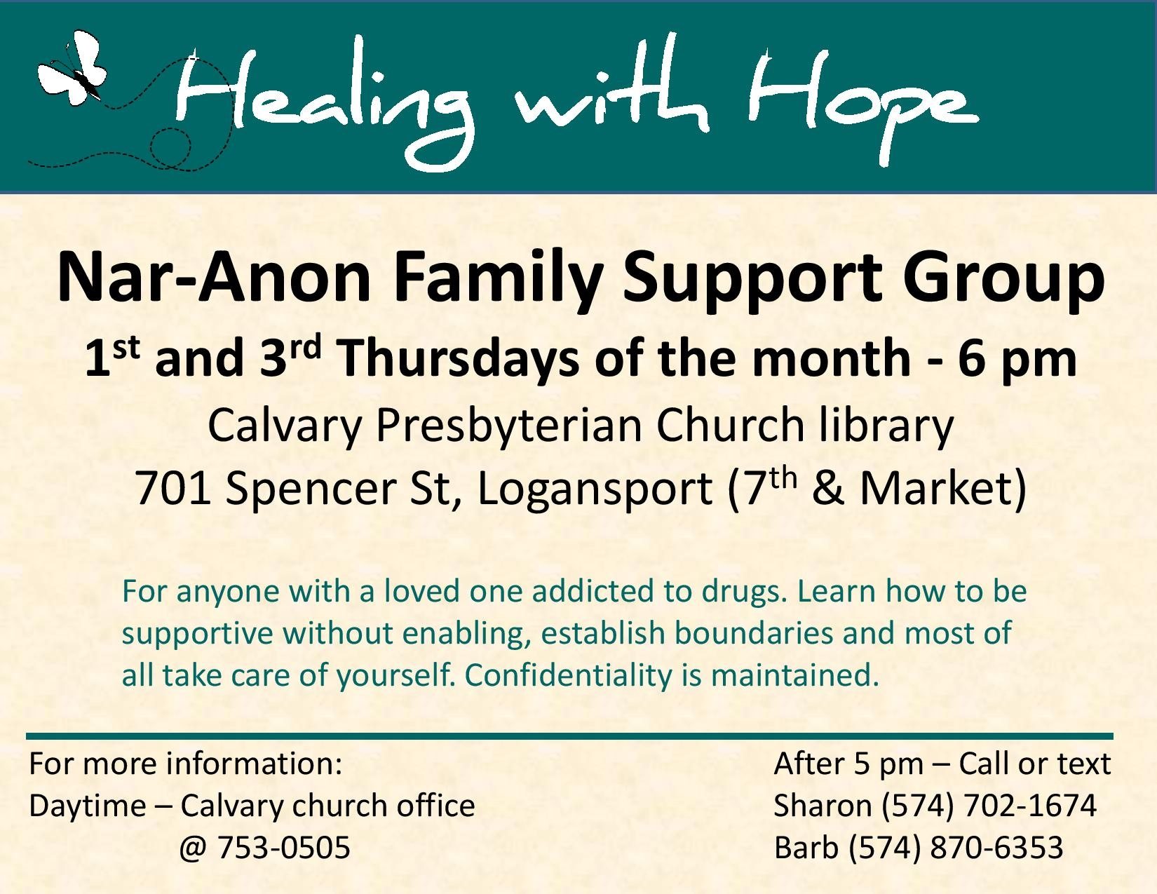 Healing With Hope Nar Anon Family Support Group  Xjb