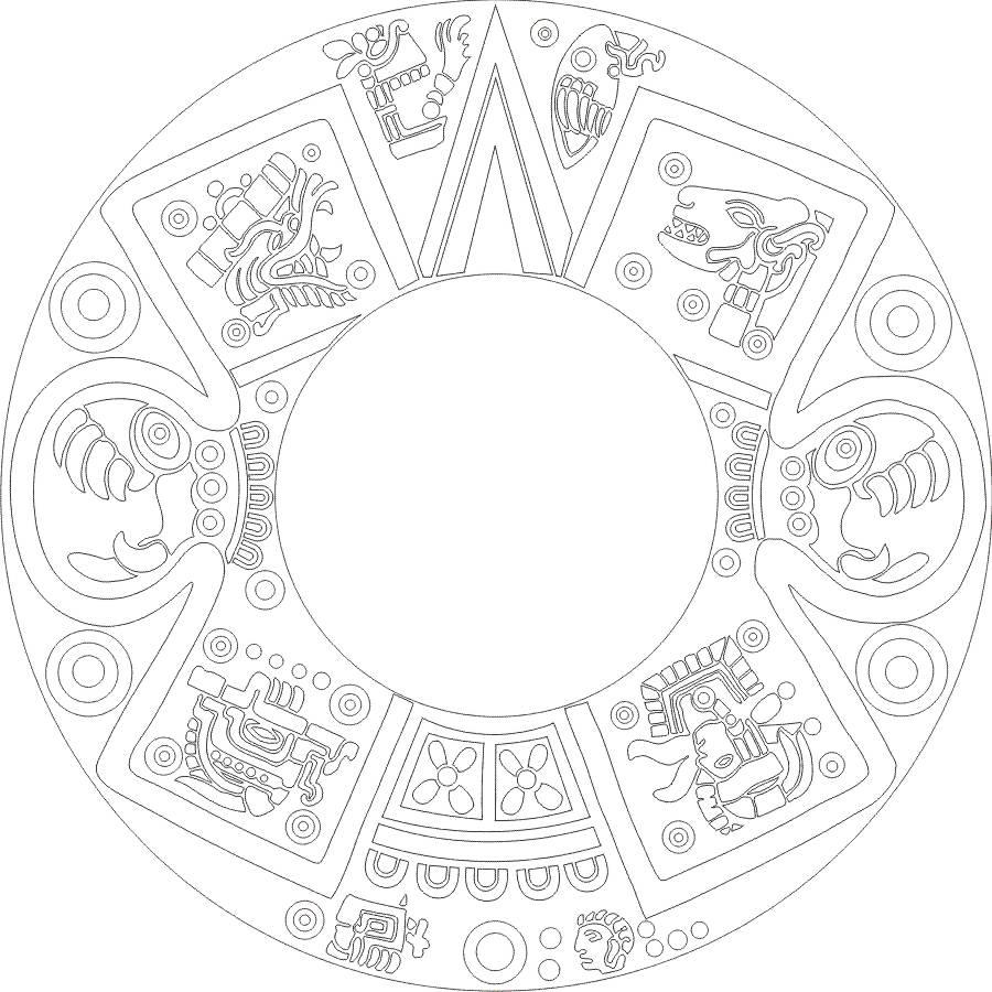 How To Draw An Aztec Calendar Calendar Template 20173abry