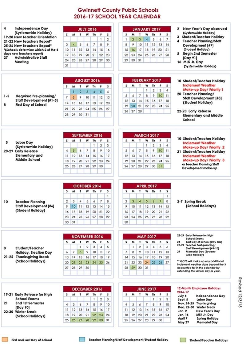 Howard County Public School Calendar 2017 Shoot Design3abry