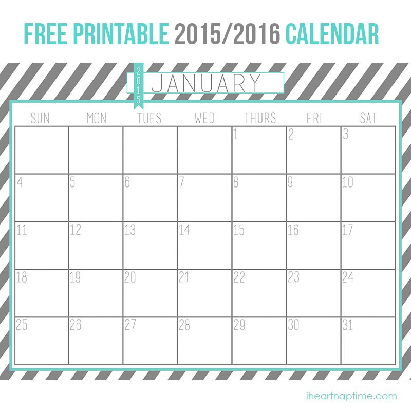 January 2016 Decorative Calendars Blank Calendar Design 2017