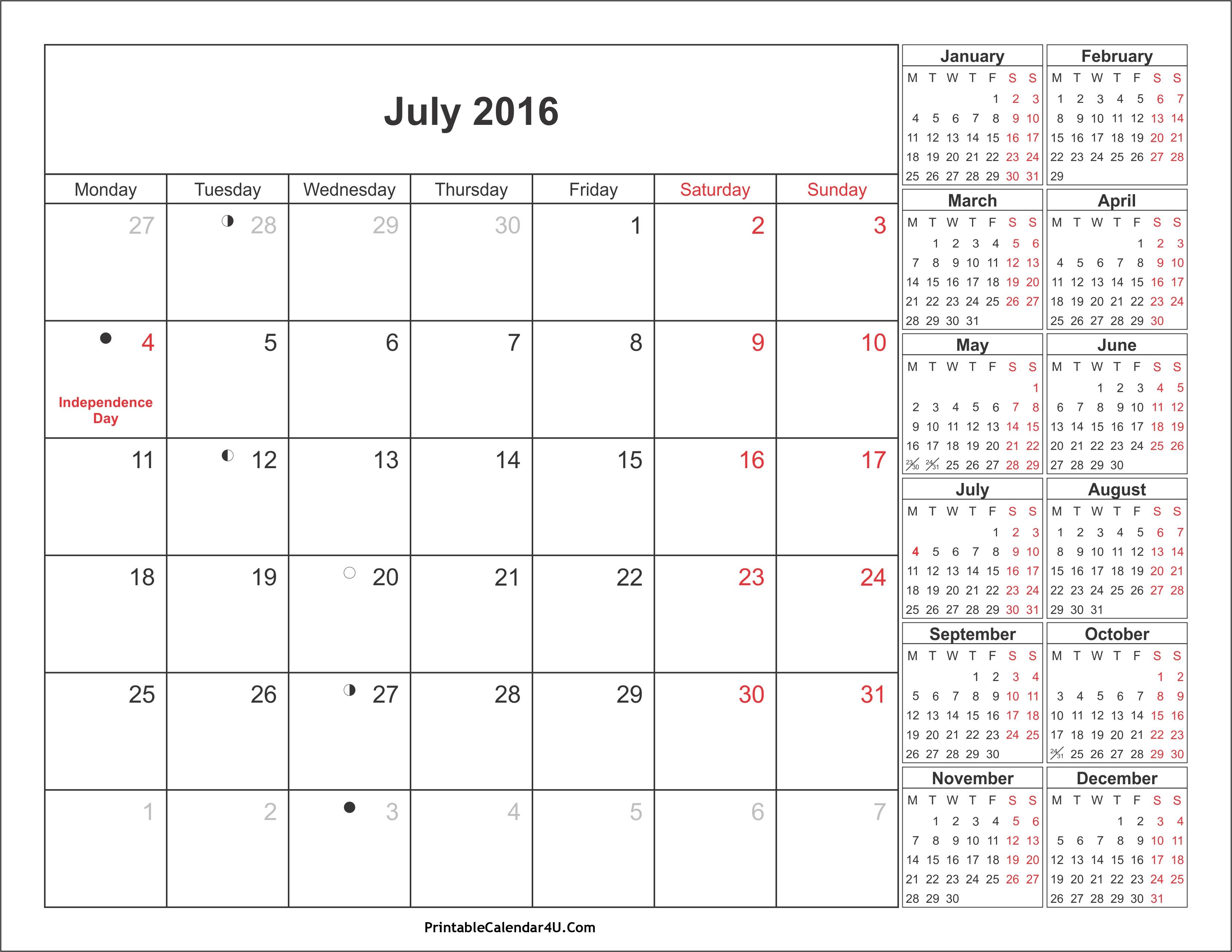July 2019 Calendar With Holidays Printable Calendar Templates3abry