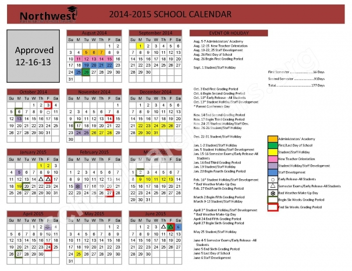 Klein School District Calendar 2016 2017 Calendar Printable 2018
