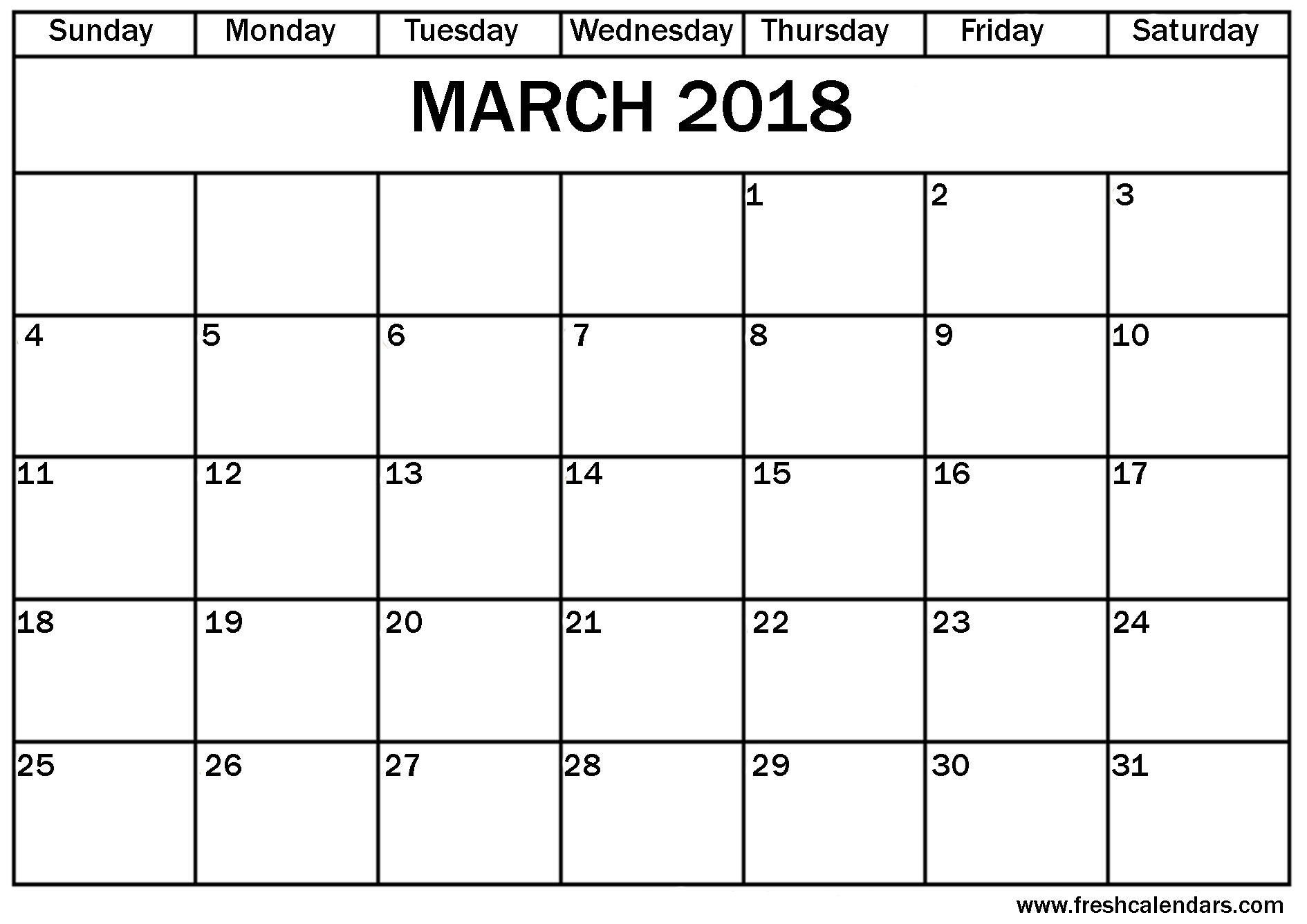 March 2018 Calendar Vertex42 March Calendar 20183abry