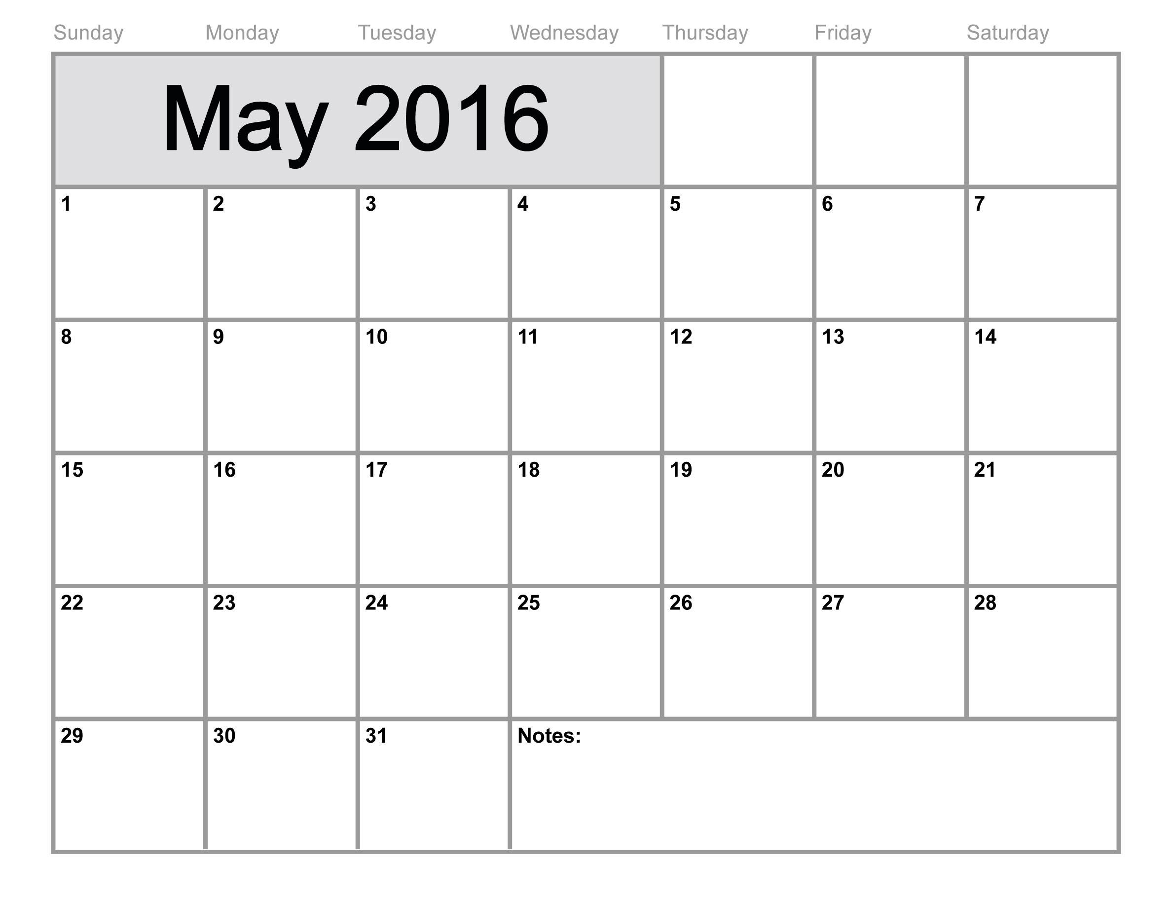May 2016 Calendar 89uj