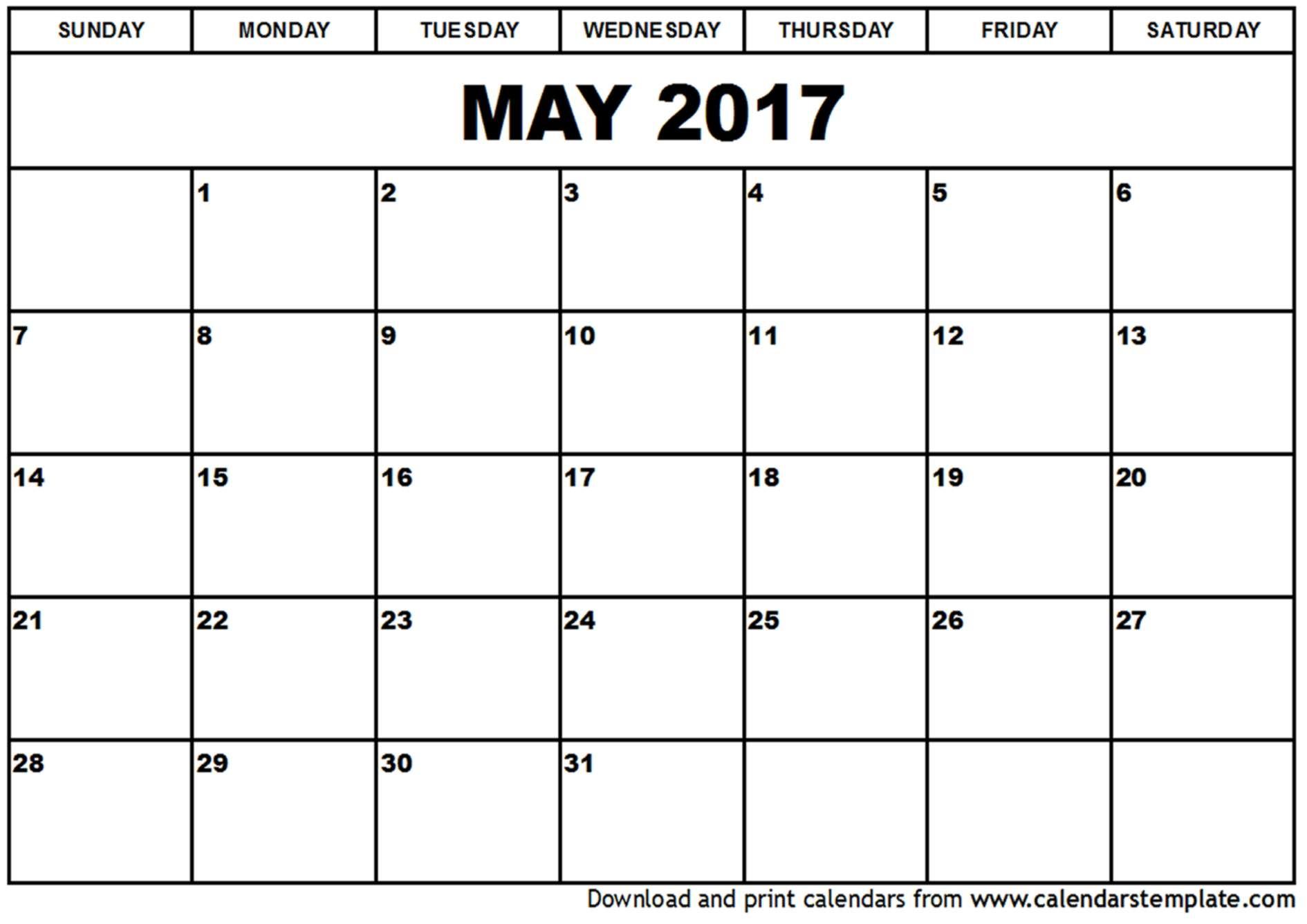 May 2017 Calendar Template Organization Ideas Pinterest  Xjb