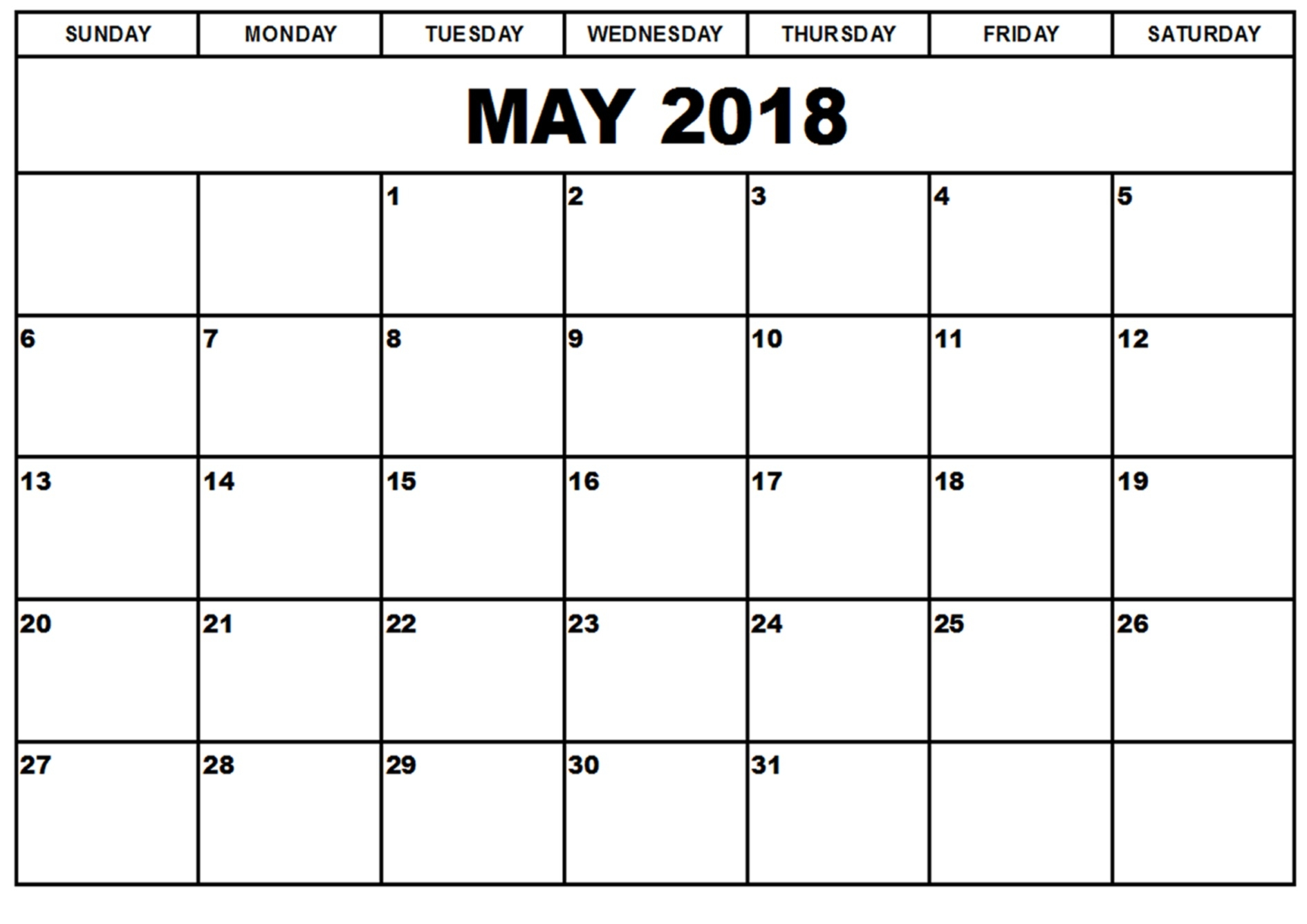 May 2018 Printable Calendar Printable Calendar 2017 Templates  Xjb
