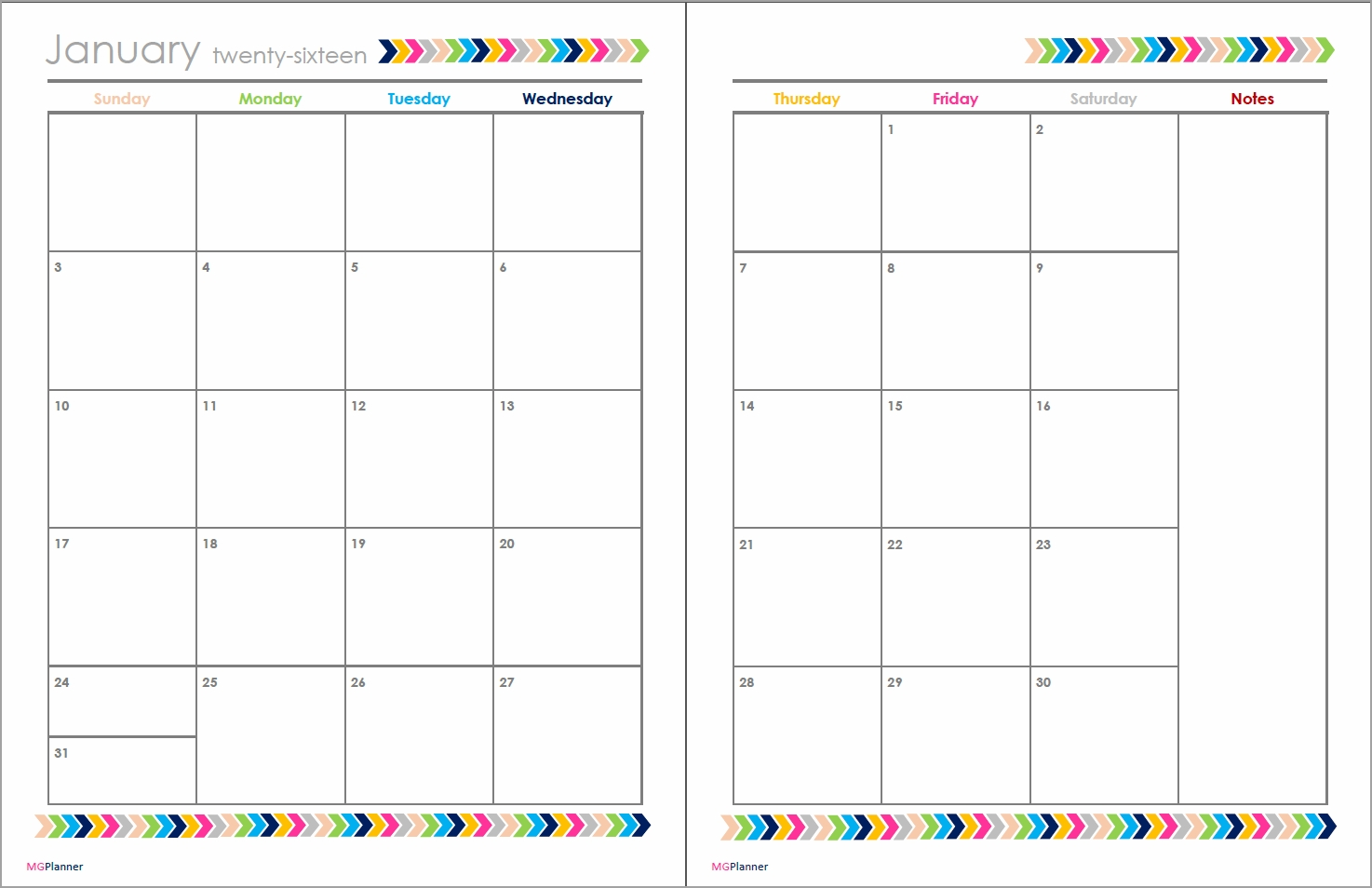 Monthly Two Page Calendar Template Calendar Template 20183abry