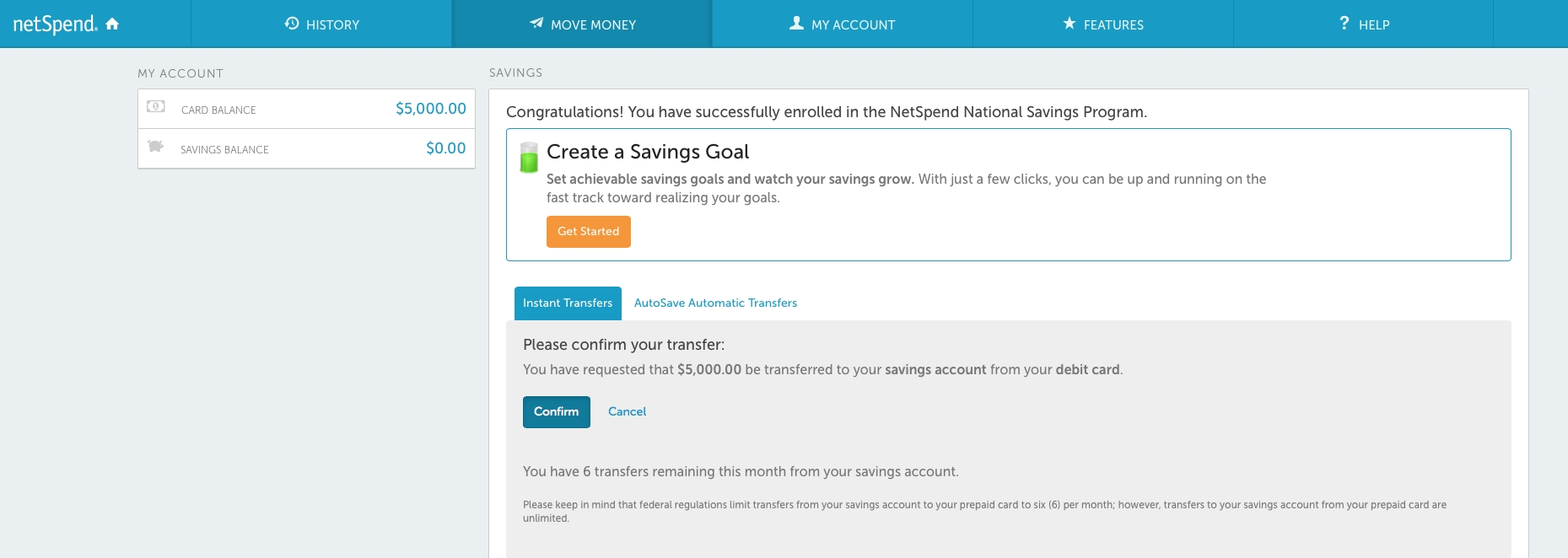 Netspend Card 5 Apy Savings Account Review My Money Blog