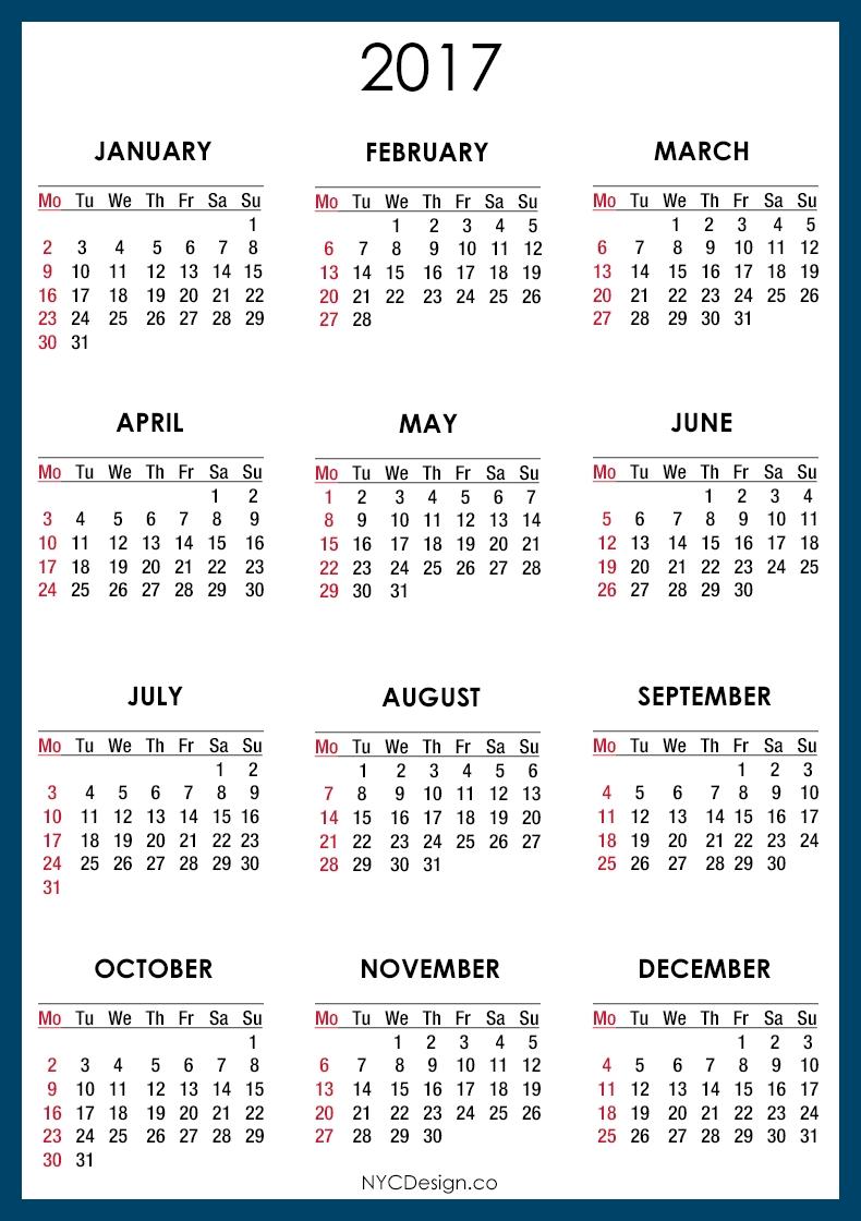 New York Web Design Studio New York Ny Calendar For 2018  Xjb