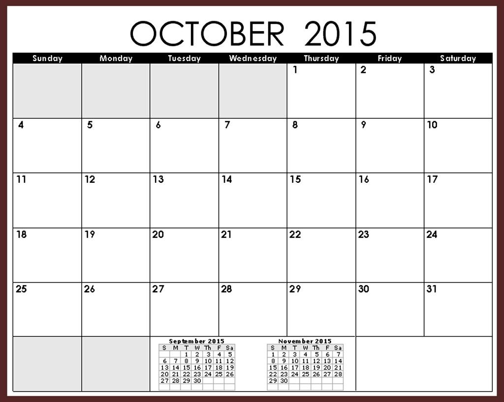 October 2015 Calendar Canada 2017 Printable Calendar  Xjb